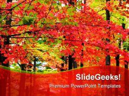 Autumn Landscape Nature PowerPoint Template 1010