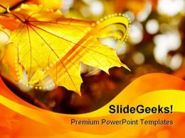 Autumn Leaf Nature PowerPoint Template 1010