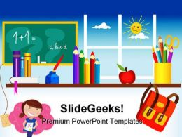 Back To School01 Education PowerPoint Backgrounds And Templates 1210