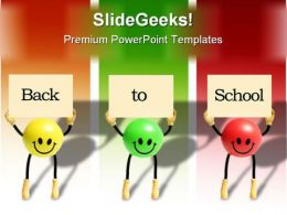 Back To School Smileys Eduation PowerPoint Backgrounds And Templates 1210