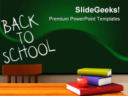 Back To School With Books Education PowerPoint Backgrounds And Templates 1210