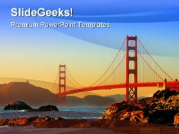 Baker Beach San Francisco Transportation PowerPoint Background And Template 1210