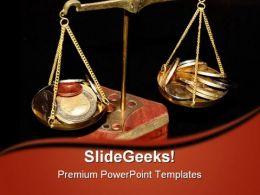 Balanced Money PowerPoint Template 0610