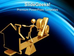 Balancing Home Real Estate PowerPoint Templates And PowerPoint Backgrounds 0411