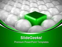 Balls And Square Shapes PowerPoint Templates And PowerPoint Backgrounds 0411