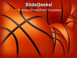 Basket Ball Sports PowerPoint Backgrounds And Templates 1210