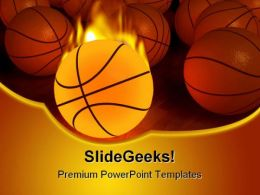 Basketball Sports PowerPoint Templates And PowerPoint Backgrounds 0411