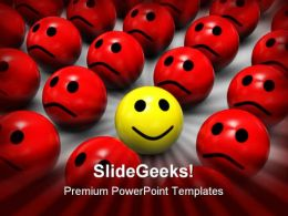 Be Different Smiley Shapes PowerPoint Template 1110