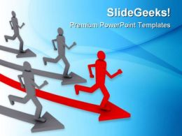 Be First Leadership PowerPoint Templates And PowerPoint Backgrounds 0811