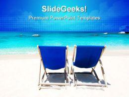 Beach01 Relax Beauty PowerPoint Template 1110