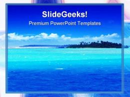 Beach Beauty PowerPoint Template 0910  Presentation Themes and Graphics Slide01