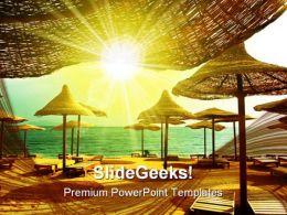 Beach Beauty PowerPoint Template 1010