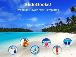 Beach Collage Nature PowerPoint Templates And PowerPoint Backgrounds 0311