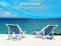 Beach Deck Chairs Vacation PowerPoint Templates And PowerPoint Backgrounds 0511