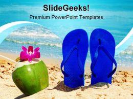 Beach Enjoy Nature PowerPoint Template 1110