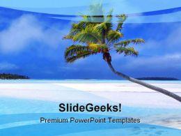 Beach Nature PowerPoint Template 0510