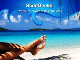 Beach Relax Beauty PowerPoint Template 1110