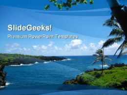 Beach Scenery Beauty PowerPoint Backgrounds And Templates 0111