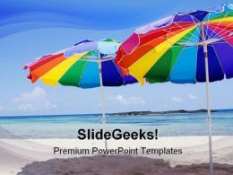 Beach Umbrellas Holidays PowerPoint Templates And PowerPoint Backgrounds 0511