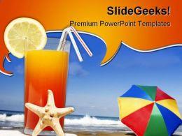 Beach Vacation PowerPoint Template 0810
