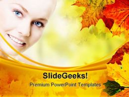 Beautiful Face Beauty PowerPoint Templates And PowerPoint Backgrounds 0311