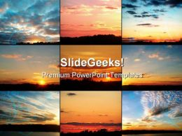 Beautiful Sunsets Nature PowerPoint Templates And PowerPoint Backgrounds 0511