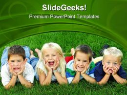 Best Friends Children PowerPoint Templates And PowerPoint Backgrounds 0411