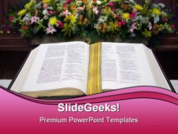 Bible02 Religion PowerPoint Template 0610