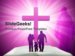 Bible Family Religion PowerPoint Template 0610