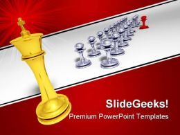 Big Golden King Game PowerPoint Templates And PowerPoint Backgrounds 0211