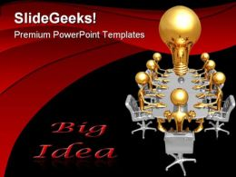 Big Idea Meeting Business PowerPoint Templates And PowerPoint Backgrounds 0511