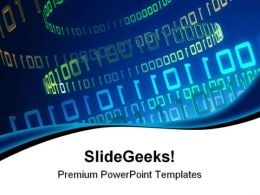Binary Business PowerPoint Templates And PowerPoint Backgrounds 0611