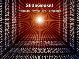 Binary Code Background Abstract PowerPoint Templates And PowerPoint Backgrounds 0811