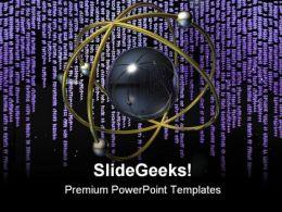 Binary Code Matrix Background PowerPoint Templates And PowerPoint Backgrounds 0511