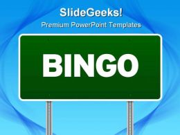 Bingo Highway Signpost Metaphor PowerPoint Templates And PowerPoint Backgrounds 0811