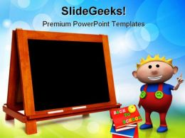 Blank Chalkboard Education PowerPoint Templates And PowerPoint Backgrounds 0511