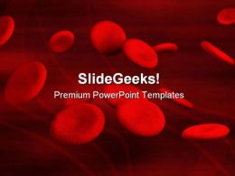 Blood Cells Medical PowerPoint Template 1110