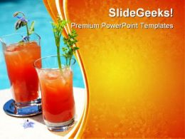 Bloody Mary Cocktail Food PowerPoint Templates And PowerPoint Backgrounds 0411