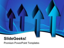 Blue Arrow Chart Symbol PowerPoint Templates And PowerPoint Backgrounds 0511
