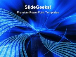 Blue Binary Flow Abstract PowerPoint Templates And PowerPoint Backgrounds 0511