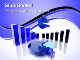 Blue Charts Business PowerPoint Templates And PowerPoint Backgrounds 0511