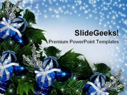 Blue Christmas Abstract Background PowerPoint Templates And PowerPoint Backgrounds 0611