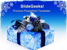 Blue Gift Box Christmas PowerPoint Templates And PowerPoint Backgrounds 0311