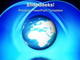 Blue Planet Earth PowerPoint Templates And PowerPoint Backgrounds 0411