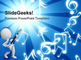 Blue Rays Entertainment Music PowerPoint Templates And PowerPoint Backgrounds 0511