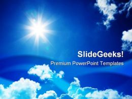 Blue Sky01 Nature PowerPoint Templates And PowerPoint Backgrounds 0811