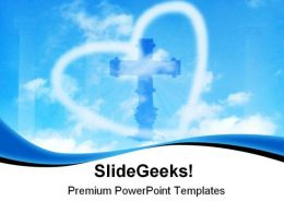 Blue Sky Heart Religion PowerPoint Templates And PowerPoint Backgrounds 0611