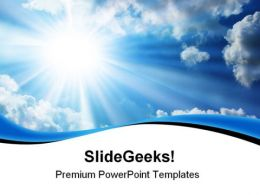 Blue Sky Nature PowerPoint Templates And PowerPoint Backgrounds 0811