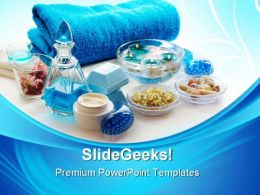 Blue Spa Lifestyle PowerPoint Templates And PowerPoint Backgrounds 0311