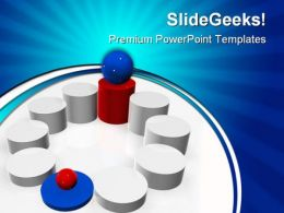 Blue Winner Competition PowerPoint Templates And PowerPoint Backgrounds 0611